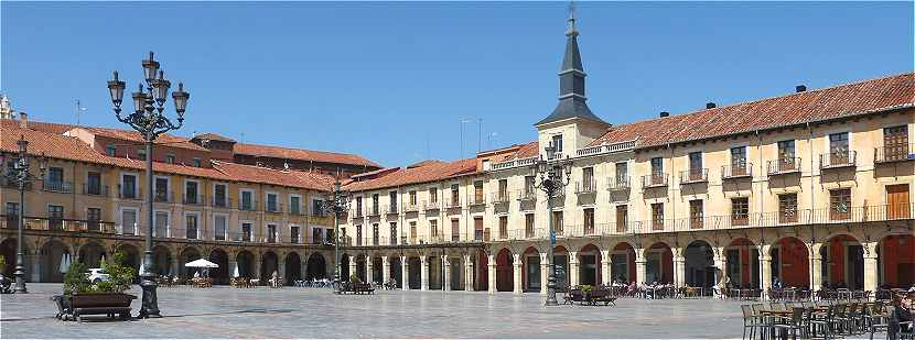 La Plaza Mayor à Leon