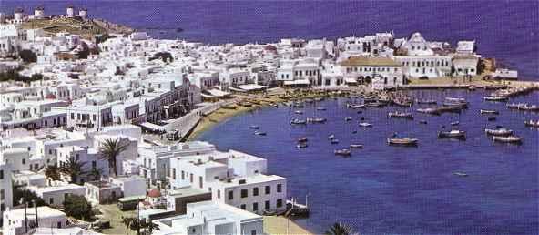 Mykonos dans l'archipel des Cyclades