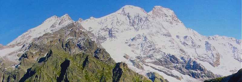 Vue du versant Sud du Mont Rose