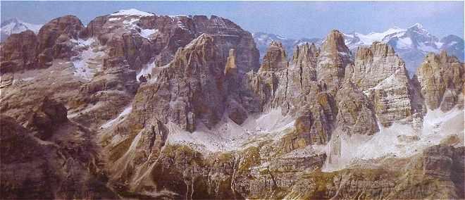 Dolomites: les montagnes au centre du Groupe de Brenta