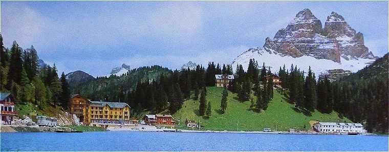Dolomites: le Lac Misurine et les Cimes du Lavaredo