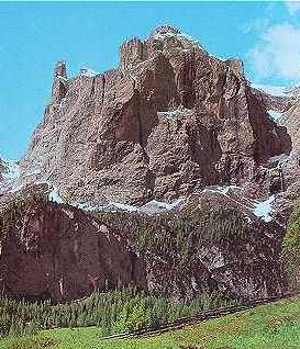 Dolomites: Groupe de Sella, les Dents du Midi