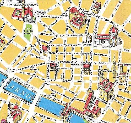 Plan Du Centre De Florence