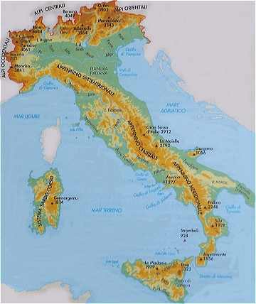 Carte montagne italie   passions photos
