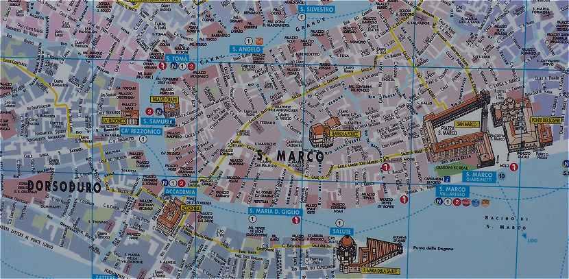 Venise Plan Du Grand Canal Pont Rialto La Place Saint Marc