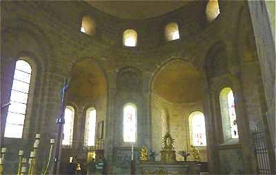Choeur de l'église de solignac