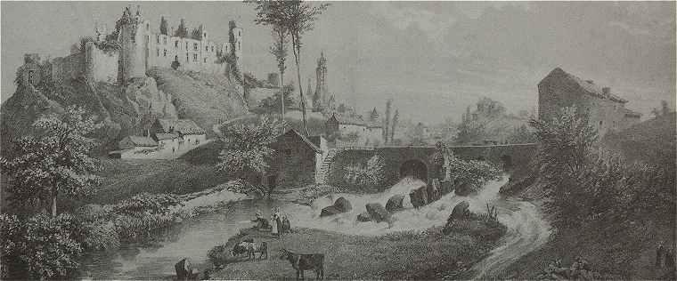 Panorama Sur Le Chateau Fort De Bressuire
