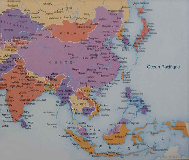 L Asie Du Sud Est Japon Chine
