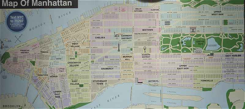 New-York: Plan de Manhattan