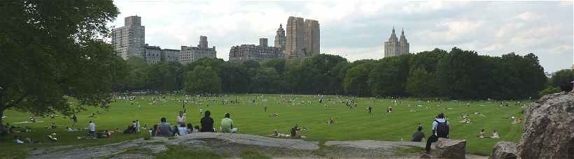 New-York: Sheep Meadow dans Central Park