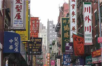 New-York: Pell Street dans Chinatown