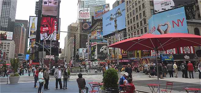 New-York: Times Square, la partie la plus anim�e de Manhattan