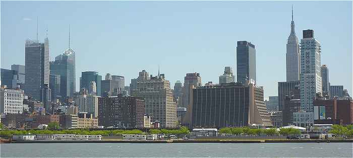 New-York: cot� ouest de Manhatttan