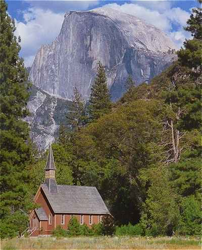Yosemite Valley Chapel dans le Parc Yosemite en Californie