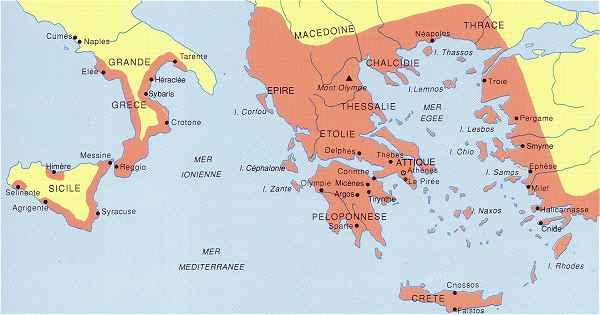Crete Carte Geographique Monde.Histoire De La Grece Antique