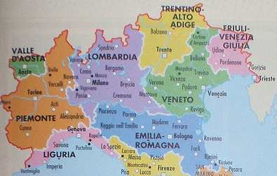 Carte Italie Du Nord Lombardie.Les Alpes Italiennes