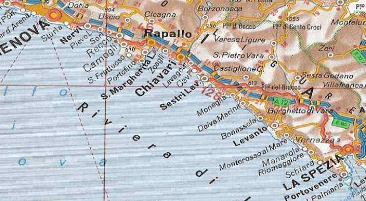 Carte Plage Italie Du Nord.La Riviera Du Levant