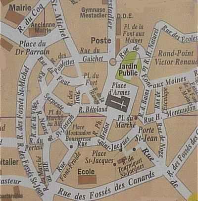Plan De Ville De Gueret