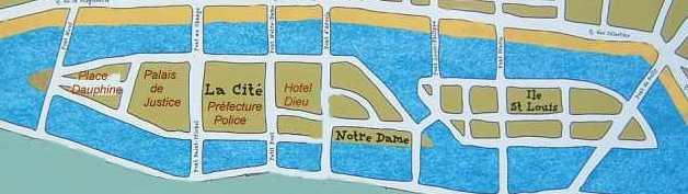 Plan de l'île de la Cité